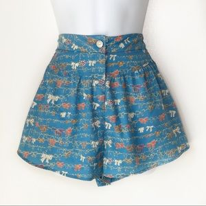 SOLEMIO High waisted loose fitted Bow shorts